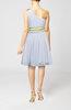 Elegant Sleeveless Zip up Chiffon Knee Length Sequin Wedding Guest Dresses