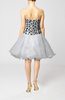 Cute Baby Doll Sleeveless Organza Beaded Prom Dresses