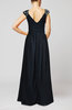 Traditional A-line Sleeveless Chiffon Floor Length Pleated Wedding Guest Dresses