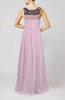 Modest Column Scoop Sleeveless Chiffon Pleated Evening Dresses