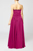 Elegant Column Sleeveless Chiffon Floor Length Beaded Wedding Guest Dresses