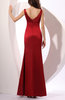 Traditional Trumpet V-neck Sleeveless Elastic Woven Satin Party Dresses