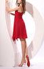 Cute A-line Zipper Chiffon Knee Length Pleated Prom Dresses
