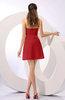 Informal A-line Sleeveless Backless Chiffon Flower Homecoming Dresses