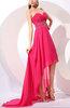 Glamorous A-line Sweetheart Sleeveless Zipper Rhinestone Evening Dresses