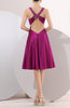 Hawaiian V-neck Hook up Elastic Woven Satin Rhinestone Bridesmaid Dresses