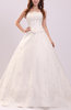 Romantic Church Strapless Sleeveless Organza Embroidery Bridal Gowns