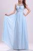 Cinderella A-line Scoop Sleeveless Chiffon Prom Dresses