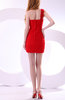 Informal Column One Shoulder Zipper Short Club Dresses