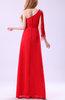 Sexy A-line Sleeveless Floor Length Ruffles Prom Dresses