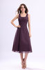 Simple A-line Square Sleeveless Zip up Wedding Guest Dresses