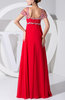 Gorgeous Empire Short Sleeve Zip up Floor Length Beaded Mother of the Bride Dresses