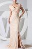 Modest Empire Short Sleeve Zipper Chiffon Evening Dresses