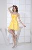Elegant A-line Zip up Satin Mini Flower Cocktail Dresses