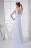 Modest Outdoor Column Bateau Zip up Brush Train Ruching Bridal Gowns