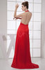 Sexy A-line Halter Sleeveless Backless Brush Train Prom Dresses