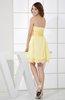 Cute Backless Chiffon Mini Ruching Graduation Dresses