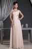 Classic A-line Zipper Chiffon Floor Length Prom Dresses