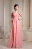 Casual Thick Straps Sleeveless Chiffon Floor Length Beading Graduation Dresses
