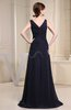 Simple A-line Sleeveless Zipper Sweep Train Split-Front Evening Dresses