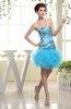 Cute Sheath Sleeveless Zip up Satin Paillette Prom Dresses