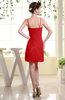 Cute Sheath Spaghetti Sleeveless Mini Plainness Bridesmaid Dresses