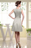 Plain Sabrina Sleeveless Zipper Knee Length Rhinestone Bridesmaid Dresses