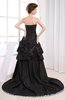 Modern Sweetheart Sleeveless Backless Taffeta Prom Dresses