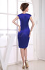 Modest Portrait Zip up Elastic Woven Satin Knee Length Party Dresses