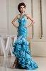 Gorgeous Asymmetric Neckline Sleeveless Zip up Taffeta Hi-Lo Party Dresses