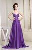 Modern Thick Straps Criss-cross Straps Chiffon-Satin Paillette Prom Dresses