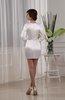 Classic V-neck Long Sleeve Elastic Woven Satin Mini Homecoming Dresses