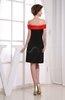 Simple Off-the-Shoulder Zipper Knee Length Plainness Bridesmaid Dresses