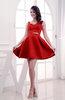 Disney Princess Thick Straps Zipper Satin Short Plainness Prom Dresses