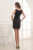Modest Sleeveless Zip up Satin Short Plainness Party Dresses