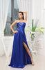 Simple Sheath Strapless Sleeveless Zipper Sweep Train Wedding Guest Dresses