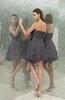 Plain A-line Sweetheart Zipper Mini Ruffles Bridesmaid Dresses