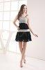 Modest A-line Sleeveless Zipper Mini Homecoming Dresses