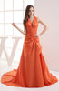 Cinderella Garden A-line Halter Sleeveless Court Train Bridal Gowns