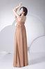 Plain Sheath Strapless Zip up Chiffon Bridesmaid Dresses