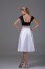 Elegant Portrait Sleeveless Knee Length Plainness Bridesmaid Dresses