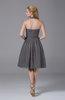 Modest Halter Sleeveless Chiffon Knee Length Ruching Party Dresses