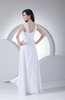 Traditional Outdoor Sheath Chiffon Floor Length Beaded Bridal Gowns