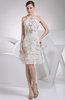 Modest Halter Sleeveless Zip up Chiffon Mini Graduation Dresses