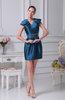 Antique Column Short Sleeve Mini Plainness Cocktail Dresses