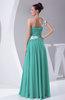 Informal Backless Chiffon Floor Length Ruching Evening Dresses