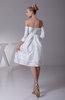 Cute A-line Off-the-Shoulder Taffeta Knee Length Prom Dresses