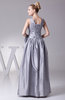 Elegant A-line Taffeta Floor Length Ruching Evening Dresses