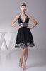 Casual Sleeveless Backless Chiffon Knee Length Club Dresses