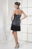 Plain Halter Sleeveless Backless Sequin Little Black Dresses
